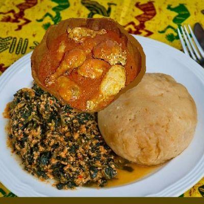 Chicken Egusi (Melon Stew) with Spinach